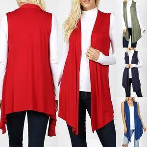 Sleeveless Cardigan Vest Womens Long Tunic